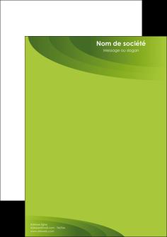 maquette en ligne a personnaliser tete de lettre graphisme vert texture papier au fond vert vert  pastel MLGI7114