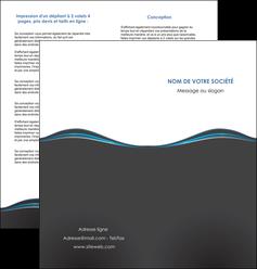 imprimer depliant 2 volets  4 pages  gris gris fonce mat MLGI71226