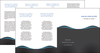 creation graphique en ligne depliant 4 volets  8 pages  gris gris fonce mat MLGI71244