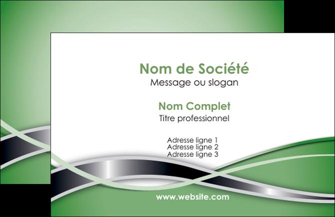 Creer Modele En Ligne Carte De Visite Vert Fond Gris MLGI71258