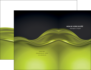 personnaliser maquette pochette a rabat espaces verts vert vert pastel fond vert pastel MIF71426