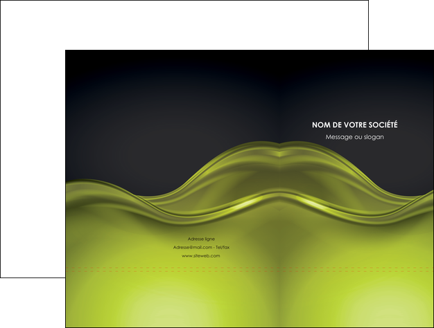 faire modele a imprimer pochette a rabat espaces verts vert vert pastel fond vert pastel MLGI71428