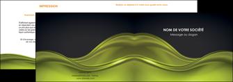 impression depliant 2 volets  4 pages  espaces verts vert vert pastel fond vert pastel MIF71430