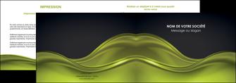 impression depliant 2 volets  4 pages  espaces verts vert vert pastel fond vert pastel MIF71432