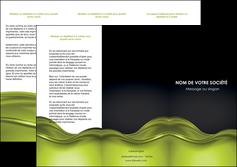 imprimer depliant 3 volets  6 pages  espaces verts vert vert pastel fond vert pastel MIF71440