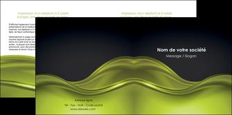 exemple depliant 2 volets  4 pages  espaces verts vert vert pastel fond vert pastel MIF71444