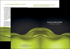 faire modele a imprimer depliant 2 volets  4 pages  espaces verts vert vert pastel fond vert pastel MIF71454