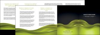 realiser depliant 4 volets  8 pages  espaces verts vert vert pastel fond vert pastel MIF71458