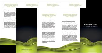 personnaliser maquette depliant 4 volets  8 pages  espaces verts vert vert pastel fond vert pastel MIF71462