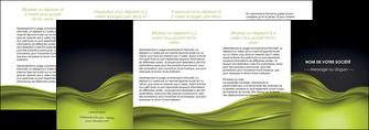 modele en ligne depliant 4 volets  8 pages  espaces verts vert vert pastel fond vert pastel MIF71464