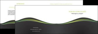 personnaliser modele de depliant 2 volets  4 pages  web design gris gris metallise fond gris metallise MLGI71482