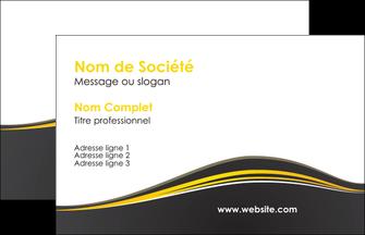 modele carte de visite web design gris gris fonce mat MIF71518
