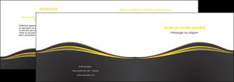 modele en ligne depliant 2 volets  4 pages  web design gris gris fonce mat MIF71534