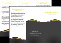 realiser depliant 3 volets  6 pages  web design gris gris fonce mat MIF71544