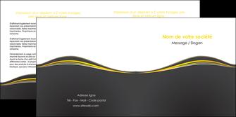 modele depliant 2 volets  4 pages  web design gris gris fonce mat MIF71548