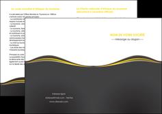 modele en ligne depliant 2 volets  4 pages  web design gris gris fonce mat MIF71558