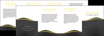 faire modele a imprimer depliant 4 volets  8 pages  web design gris gris fonce mat MIF71568