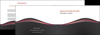 imprimerie depliant 2 volets  4 pages  web design gris gris fonce mat MLIG71588