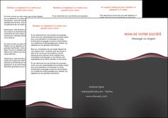 Commander Plaquette d'entreprise Web Design modèle graphique pour devis d'imprimeur Dépliant 6 pages Pli roulé DL - Portrait (10x21cm lorsque fermé)