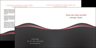 modele depliant 2 volets  4 pages  web design gris gris fonce mat MLGI71600