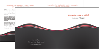 modele depliant 2 volets  4 pages  web design gris gris fonce mat MLIG71600