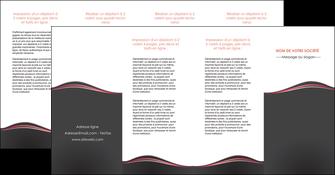 cree depliant 4 volets  8 pages  web design gris gris fonce mat MLGI71618