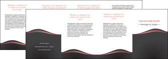 impression depliant 4 volets  8 pages  web design gris gris fonce mat MLIG71620