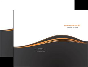 maquette en ligne a personnaliser pochette a rabat web design noir fond noir couleur noir MIF71802