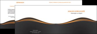 imprimerie depliant 2 volets  4 pages  web design noir fond noir couleur noir MIF71806