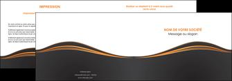 creer modele en ligne depliant 2 volets  4 pages  web design noir fond noir couleur noir MIF71808