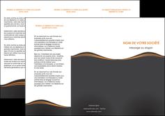 cree depliant 3 volets  6 pages  web design noir fond noir couleur noir MIF71816