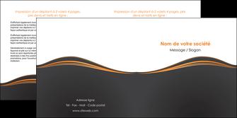 creer modele en ligne depliant 2 volets  4 pages  web design noir fond noir couleur noir MIF71820