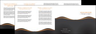 imprimer depliant 4 volets  8 pages  web design noir fond noir couleur noir MIF71834