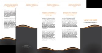 impression depliant 4 volets  8 pages  web design noir fond noir couleur noir MIF71838
