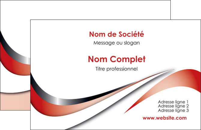 creer modele en ligne carte de visite web design rouge fond rouge couleur chaude MIF72102