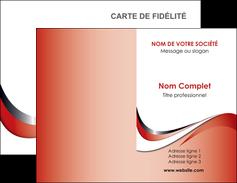 modele carte de visite web design rouge fond rouge couleur chaude MLGI72112