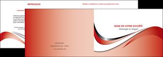 imprimerie depliant 2 volets  4 pages  web design rouge fond rouge couleur chaude MLGI72118