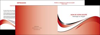 personnaliser modele de depliant 2 volets  4 pages  web design rouge fond rouge couleur chaude MLGI72120