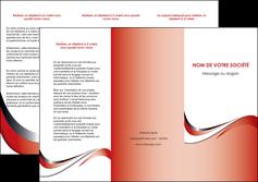 faire depliant 3 volets  6 pages  web design rouge fond rouge couleur chaude MLGI72128
