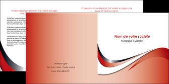 exemple depliant 2 volets  4 pages  web design rouge fond rouge couleur chaude MLGI72132