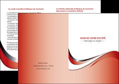 realiser depliant 2 volets  4 pages  web design rouge fond rouge couleur chaude MLGI72142