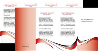 maquette en ligne a personnaliser depliant 4 volets  8 pages  web design rouge fond rouge couleur chaude MLGI72150