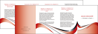 creer modele en ligne depliant 4 volets  8 pages  web design rouge fond rouge couleur chaude MLGI72152