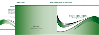 modele depliant 2 volets  4 pages  web design fond vert abstrait abstraction MLGI72170
