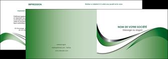 modele depliant 2 volets  4 pages  web design fond vert abstrait abstraction MLGI72170