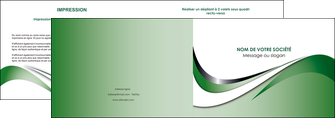 modele en ligne depliant 2 volets  4 pages  web design fond vert abstrait abstraction MLGI72172