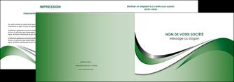 modele en ligne depliant 2 volets  4 pages  web design fond vert abstrait abstraction MLGI72172