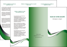 creer modele en ligne depliant 3 volets  6 pages  web design fond vert abstrait abstraction MLGI72180