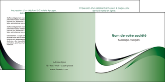 imprimer depliant 2 volets  4 pages  web design fond vert abstrait abstraction MLGI72184