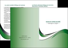 imprimer depliant 2 volets  4 pages  web design fond vert abstrait abstraction MLGI72194